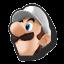 Icône Luigi blanc U