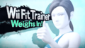 Splash art Entraineuse Wii Fit SSB4