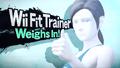 Splash art Entraineuse Wii Fit SSB4