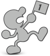 Art Mr. Game & Watch gris Ultimate