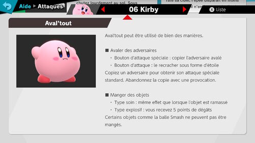 Attaques Ultimate Kirby 2