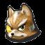 Icône Fox jaune U