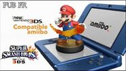 Super Smash Bros PUB TV New 3DS + amiibo