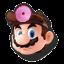 Icône Dr. Mario rouge U