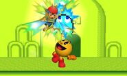 Attaque Smash Haut Pac-Man