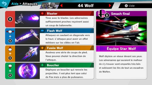 Attaques Ultimate Wolf
