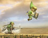 Link Cartoon attaques Brawl 3