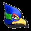 Icône Falco vert U