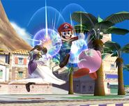 Mario attaques Brawl 4