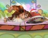 Donkey Kong attaques Brawl 8