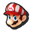 Icône Mario blanc rouge U
