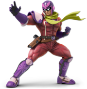 Art Captain Falcon rouge Ultimate
