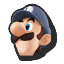 Icône Luigi bleu jaune U