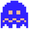 Art Fantôme bleu Pac-Man