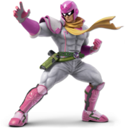 Art Captain Falcon blanc Ultimate