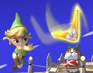 Link Cartoon attaques Brawl 8