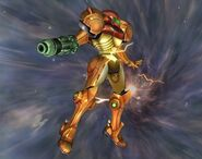 Samus sans armure Smash final Brawl 4