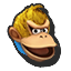 Icône Donkey Kong jaune U