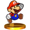 Trophée Paper Mario SSB4 3DS