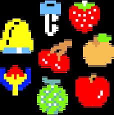 Art Fruit bonus Pac-Man
