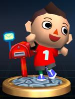 Trophée Garçon d'Animal Crossing Brawl