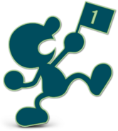Art Mr. Game & Watch bleu marine Ultimate
