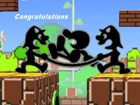 Félicitations Mr. Game & Watch Melee Aventure