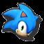 Icône Sonic bleu clair U