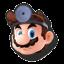 Icône Dr. Mario noir U
