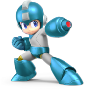Art Mega Man bleu Ultimate