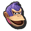 Icône Donkey Kong bleu U