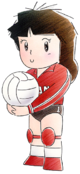Art Joueuse Volleyball