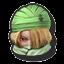 Icône Sheik vert U