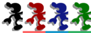 Couleurs Mr. Game & Watch Melee