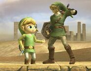 Link Cartoon attaques Brawl 4