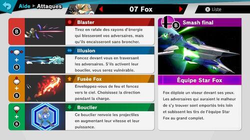 Attaques Ultimate Fox