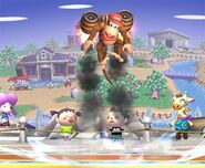 Diddy Kong attaques Brawl 4