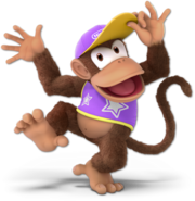 Art Diddy Kong violet Ultimate