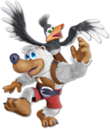 Art Banjo & Kazooie blanc Ultimate
