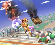 Diddy Kong attaques Brawl 6