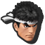 Icône Ryu bleu clair U