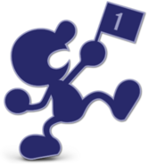 Art Mr. Game & Watch bleu Ultimate