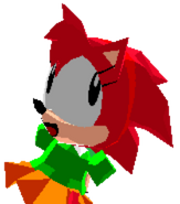 Classic Amy Rose Win Pose