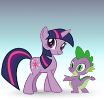 Twilight and Spike
