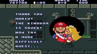 Super Mario Bros 1 (snes) - World 8 + Ending