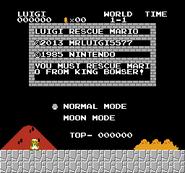 Luigi rescue Mario (SMB Hack) 001