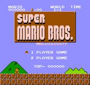 Super Mario Bros - MrLuigi5577s levels (SMB Hack) 001