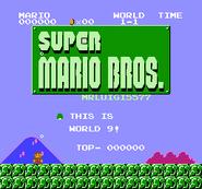 Super Mario Bros - MrLuigi5577s levels (SMB Hack) - World 9 001