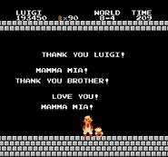 Luigi rescue Mario (SMB Hack) 004
