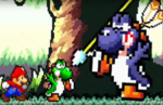 Yoshi defends his friends